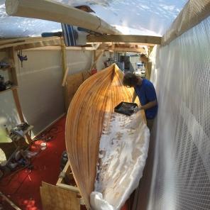 Laying Fiberglass